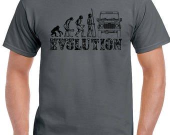 Defender Evolution - Mens Funny T-Shirt Land Rover 90 120 140 4X4 Off Road Landy 1695