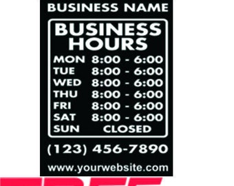 Glass Door Decals Etsy - Cute custom vinyl stickers   for business