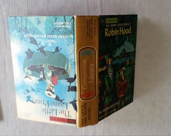 antique book - robin hood & the little lame prince by companion library and grosset and dunlap - howard pype and dinah murlock story novel