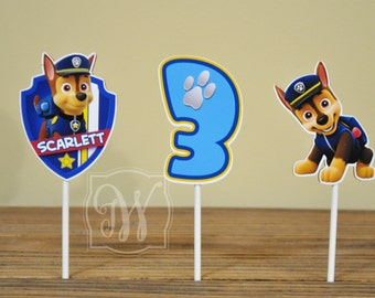 Paw Patrol cupcake toppers, Set of 12, Paw Patrol birthday, Paw Patrol party, Girls Party, Boys Birthday
