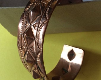 Shiny Copper Native American Bracelet