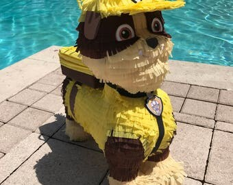 Paw Patrol Pinata Birthday. Rubble the dog. Party Decorations and supplies