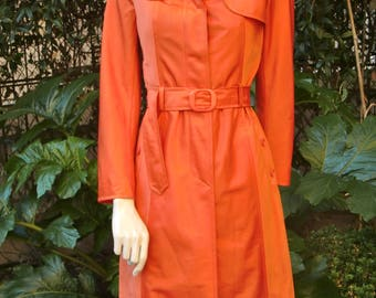 LOUIS FERAUD 1970 Orange Trench coat