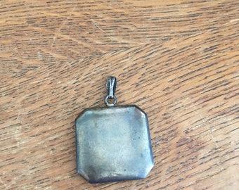 Antique Sterling Silver Contact Lens Case Pendant Locket Necklace Rare