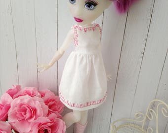 items similar to cloth doll blonde curly hair doll dolls