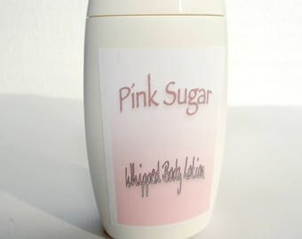 Pink Sugar Lotion, Whipped Body Lotion - Mango Butter, Shea Butter, Raspberry Seed Oil, Organic Olive Oil, Organic Camellia Seed Oil - Vegan