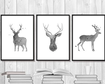 Abstract deer | Etsy