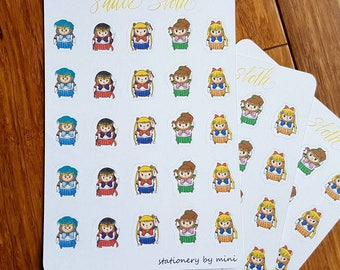 Sailor Moon Costume Adorable Sloth Planner Stickers