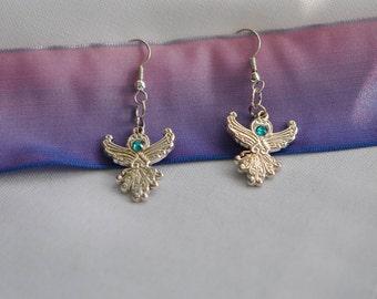 Sterling Silver Earrings   Angels    Handmade