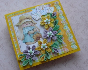 Quilling Happy Birthday Card.