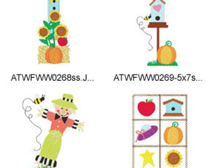 Autumn-Birdhouses ( 16 Machine Embroidery Designs from ATW ) XYZ17F