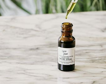 Hyperpigmented/Acne-Prone Skin Facial Serum / ORGANIC / cleansing oil & moisturizer / ALL skin types welcome / 1/2 oz.