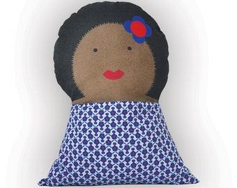 Poupée coussin - Aretha - doudou décoration chambre enfant