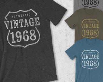 50th Birthday Gift For Women & Men - Gift for man -Authentic Vintage 1968 Shirt - 50th Birthday Shirt -50th Birthday - 50th Birthday T-Shirt