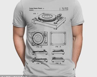 Turntable T-Shirt For Vinyl Addict, Music Shirt For Audiophile, Dj Shirt For Dj Boyfriend Girlfriend, Hipster Tee Gift, Vinyl Record P227