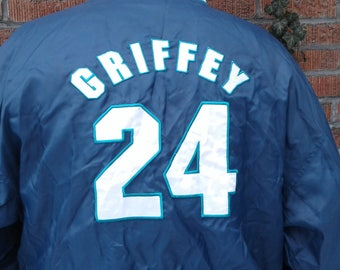 Vintage 90's Starter Seattle Mariners Ken Griffey Jr. Pullover Windbreaker Jacket XL