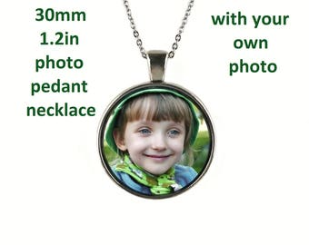 Photo Pendant, Custom Photo Pendant Necklace, Portrait pendant, Glass Dome Pendant, Photo Keepsake jewelry, Customized Personalized jewelry