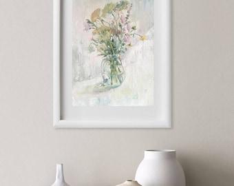 Morning flowers. Original oil painting. Still life. Unframed
