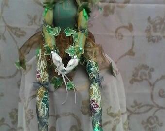 OOAK handmade soft sculpture  fairy cloth doll