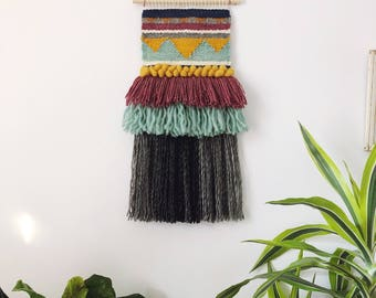 OOAK woven wall hanging, wall hanging, weaving, tapestry, woven wall art, home decor