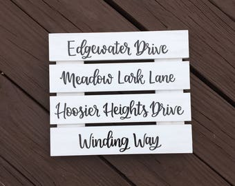 Address Sign | Custom Wood Sign | Personalized Wood Sign | Street Name Sign | Home Sign | Hand Lettered