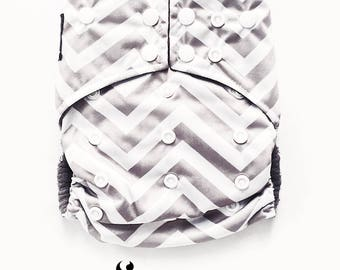 Cloth Diapers, Cloth Diaper Pattern, One Size, All in one, Modern, Bamboo, Nappies, Baby Diaper, Baby Diaper Cover, Grey, Chevron, Stripes
