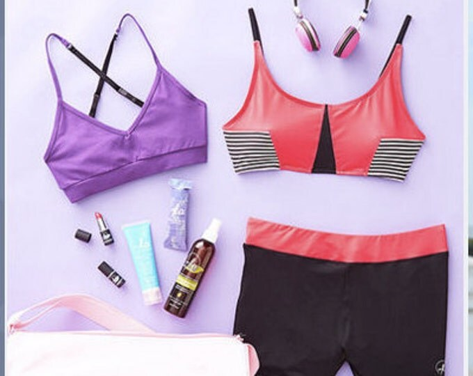 DANCE GIFT! New Year Gift Set For the Dancer In Your Life!- Choose (1) Dance Bra and Get Matching Shorts Child through Adult Sizes 3 Colors!
