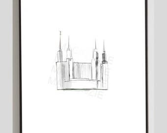 Washington D.C. LDS Temple Printable Painting
