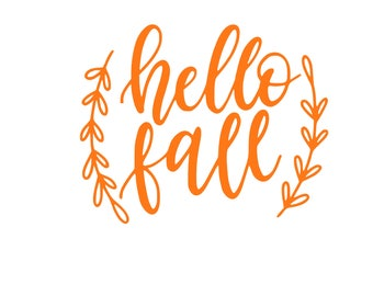 Hello Fall Decal - Fall Decor - Home Decor - Wine Glass Decor - Fall Decal - Autumn Decor - Sticker - Decal - Bumper Sticker - Laptop Decal