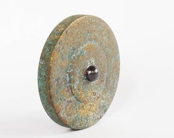 """1.65"""" Aged Brass Top, Metal Spinning Top, Spinning Top, Spin top, EDC, Spinning Coin, Precision Spinning Top"""