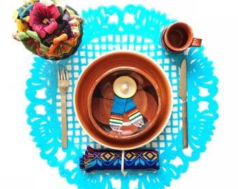 Papel picado placemats plastic, fiesta decorations, papel picado table runner, fiesta decorations, mexican party decorations, SET OF 5