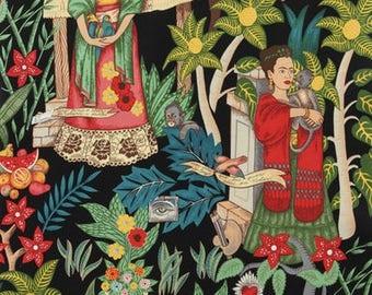 Alexander Henry - Frida's Garden - Beige background or black
