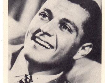 Vintage 1960's Tony Martin Black & White Portrait Litho Paper Photo