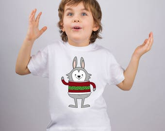 Bunny Shirt for Kids Animal Shirt Funny Rabbit Shirt Boys Tee Shirt Kids Funny T Shirt Youth Design Tee Toddlers Cute Shirt Graphic PA1216