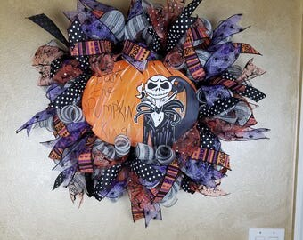 Pumpkin King Wreath, Halloween Wreath, Happy Halloween Wreath, Front Door Wreath, Halloween Decor, Halloween Decoration, Whimsical Wreath