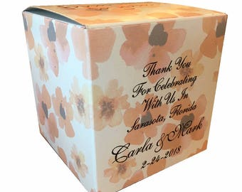 4x4x4 Wedding Favor Gift Box - Any Artwork, Full Color 5 Sides