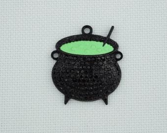 Black Cauldron Needle Minder / Witches Pot Needleminder