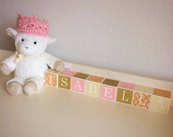 Baby name Wooden Blocks