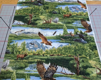 Majestic Wings Cotton Fabric designed by Rod Frederick for SSI