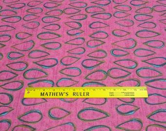 Teardrops on Pink Cotton Fabric