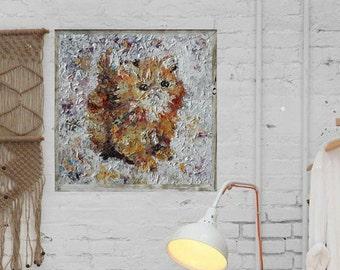 Handpainted ''Orange Kitten''