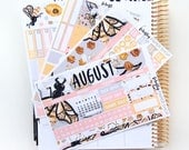 August Monthly Kit - (stickers for Erin Condren Life Planner)