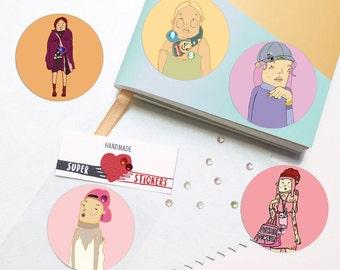 Girl power stickers - feminism sticker - girl power - girl gang - planner decal - decal - vinyl stickers - fun stickers - goody bag filler