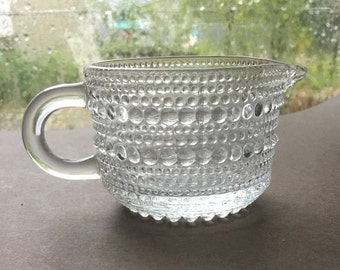Creamer Small Glass Vintage Beaded Pattern Good Condition
