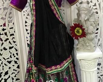 3pc Banarasi Chaniya Choli/ Lengha Choli/Half Sari