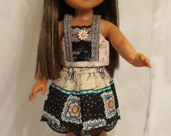 14.5 inch doll clothes/14 inch doll clothes/Wellie Wisher/American Girl doll clothes/Doll accessories