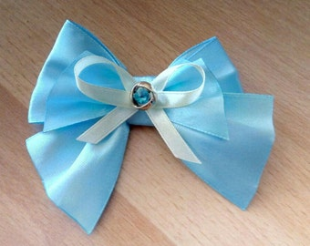 Sailor Moon cat inspired bow tie for cat - blue satin cat bow tie - bow tie for cat collars - bow tie for dog collars