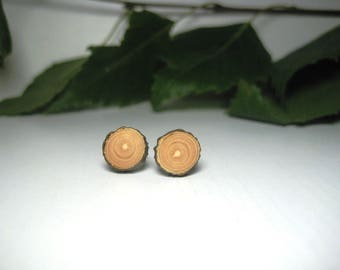 MEN WOOD STUDS, small mens earrings, small earrings, small stud, men wood stud earring, small wood stud,  rustic wood slice, minimalist gift