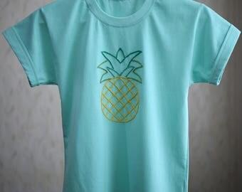 Pineapple T-Shirt, Green pineapple T-Shirt