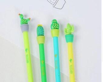 4 Pcs Cactus Plant Gel Pen